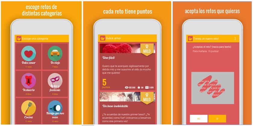 apps para enamorados. desire