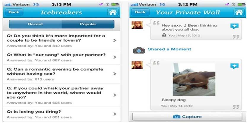 apps para enamorados.Theicebreak