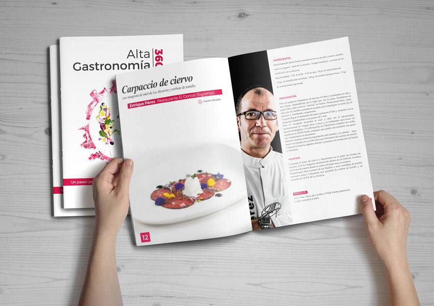 Diseño Libro de gastronomía de la JCCM Trinexo