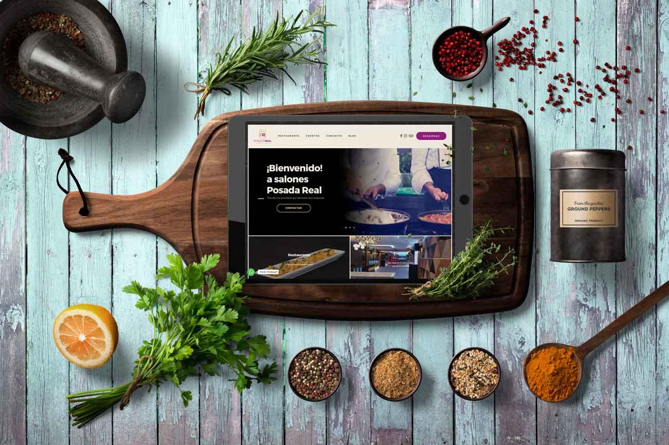 Diseño Web del Restaurante Posada Real por Trinexo