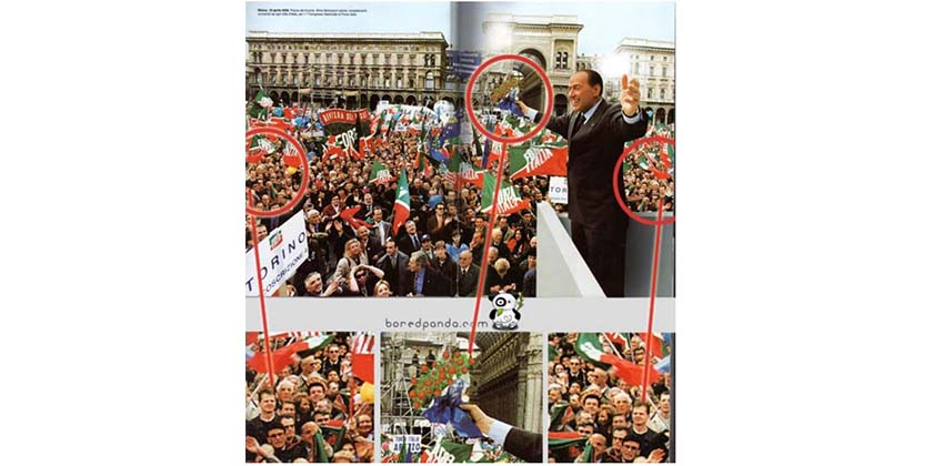 Berlusconi 25 delirantes errores de photoshop en publicidad