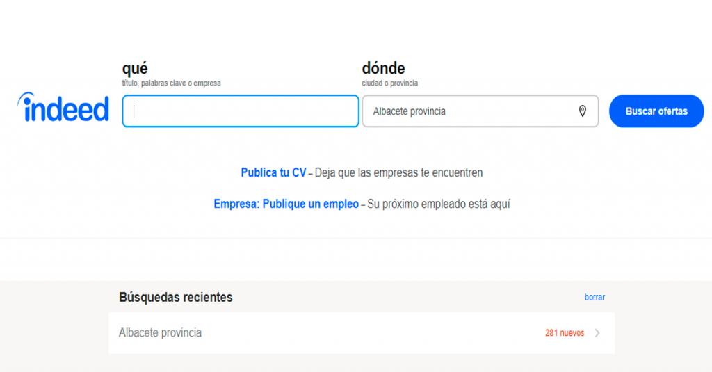 indeed web para buscar trabajo