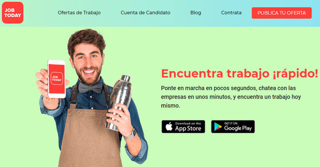 job today web para buscar trabajo