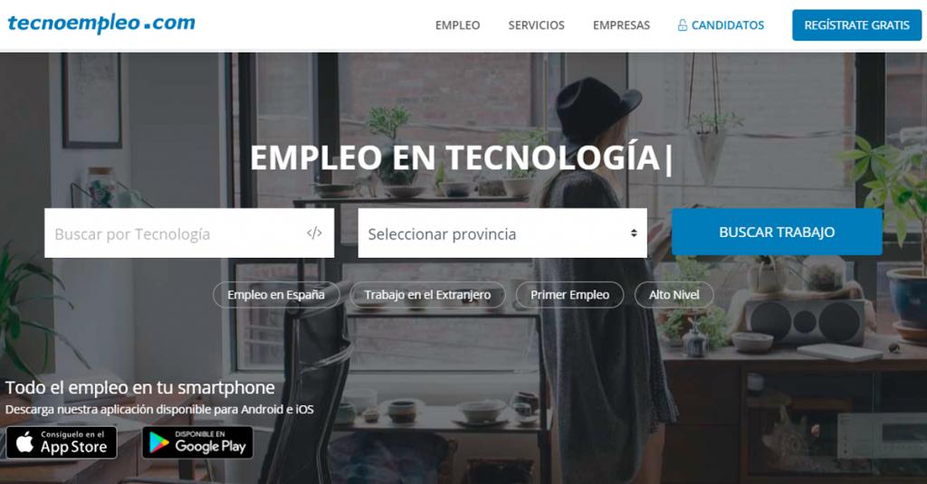 tecnoempleo web para buscar trabajo